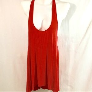 Gaiam Bamboo Vis Spandex Tunic High Low Workout LG